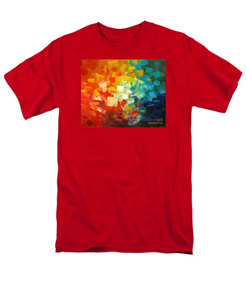 Men's T-Shirt  (Regular Fit) featuring the painting Art Lovers by Tatiana Iliina