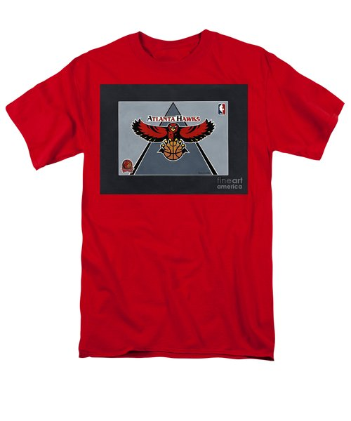 Atlanta Hawks T-shirt Men's T-Shirt  (Regular Fit) by Herb Strobino