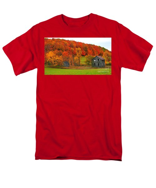 Men's T-Shirt  (Regular Fit) featuring the photograph Autumn Abandoned by Terri Gostola