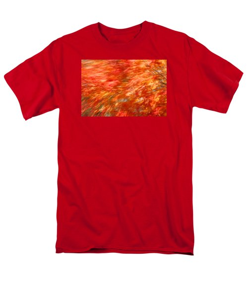 Autumn River Of Flame Men's T-Shirt  (Regular Fit) by Jeff Folger