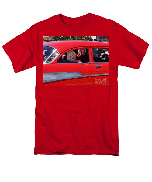 Men's T-Shirt  (Regular Fit) featuring the photograph Back Seat Marilyn by Ed Weidman