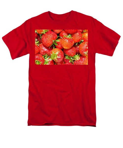 Men's T-Shirt  (Regular Fit) featuring the photograph Background Of Strawberries by Kennerth and Birgitta Kullman