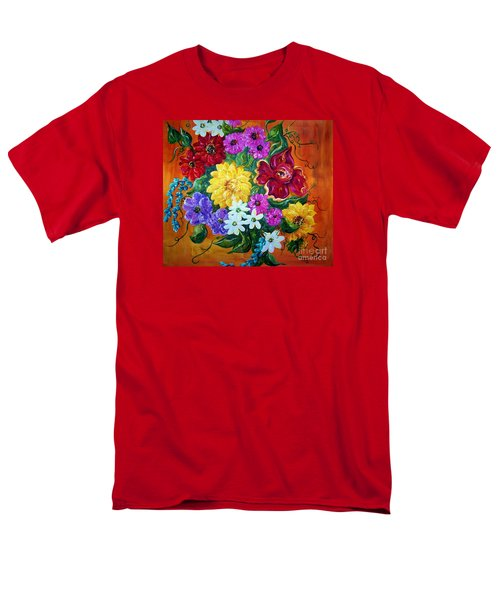 Men's T-Shirt  (Regular Fit) featuring the painting Beauties In Bloom by Eloise Schneider
