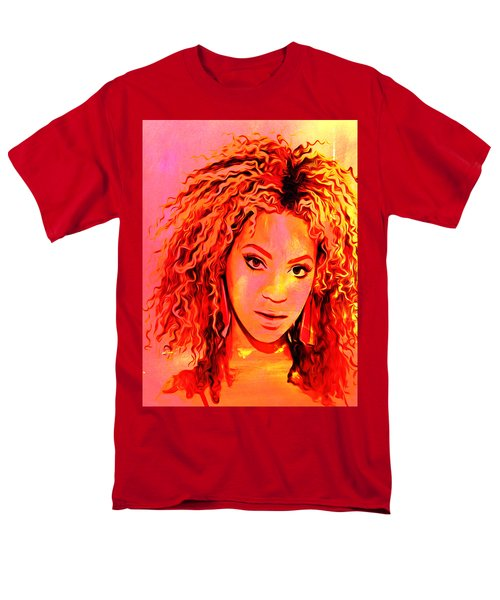 Men's T-Shirt  (Regular Fit) featuring the painting Beyonce by Brian Reaves
