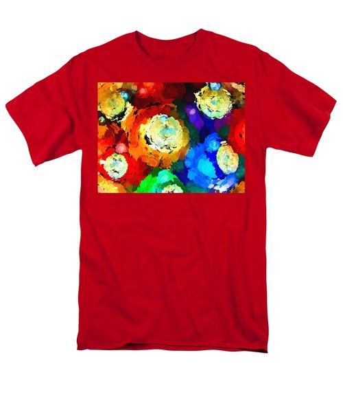Billiard Balls Abstract Digital Art Men's T-Shirt  (Regular Fit) by Vizual Studio