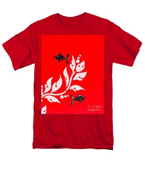 Black Fish Left Men's T-Shirt  (Regular Fit) by Stefanie Forck