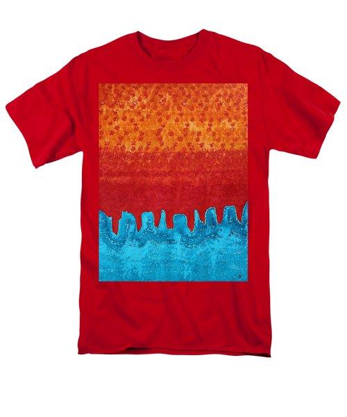Blue Canyon Original Painting Men's T-Shirt  (Regular Fit) by Sol Luckman