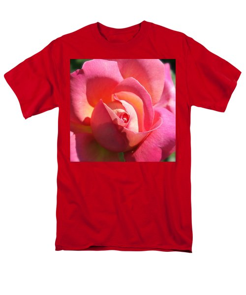 Blushing Rose Men's T-Shirt  (Regular Fit) by Michele Myers