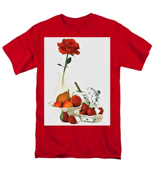 Men's T-Shirt  (Regular Fit) featuring the photograph Breakfast For Lovers by Elf Evans
