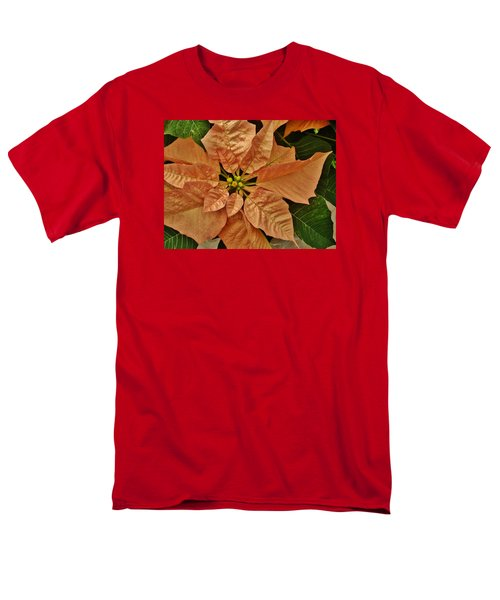 Bronze Poinsettia 3 Men's T-Shirt  (Regular Fit) by VLee Watson