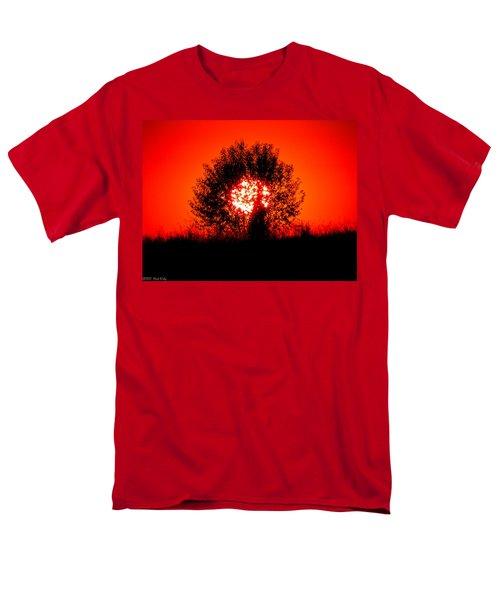 Burning Bush Men's T-Shirt  (Regular Fit) by Nick Kirby