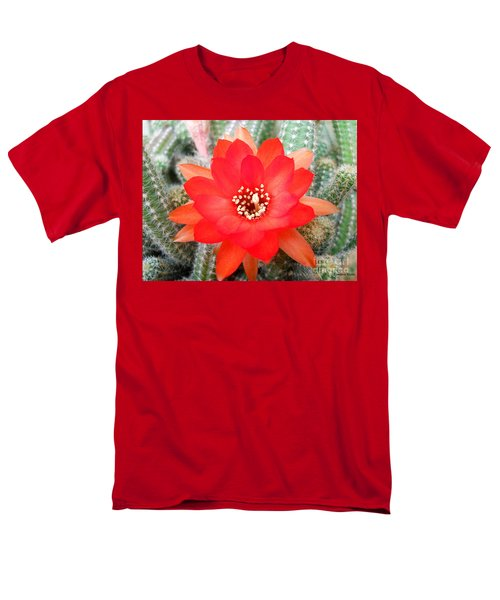 Men's T-Shirt  (Regular Fit) featuring the photograph Cactus Flower by Ramona Matei