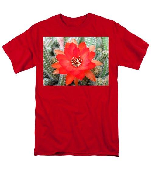 Cactus Flower Men's T-Shirt  (Regular Fit) by Ramona Matei