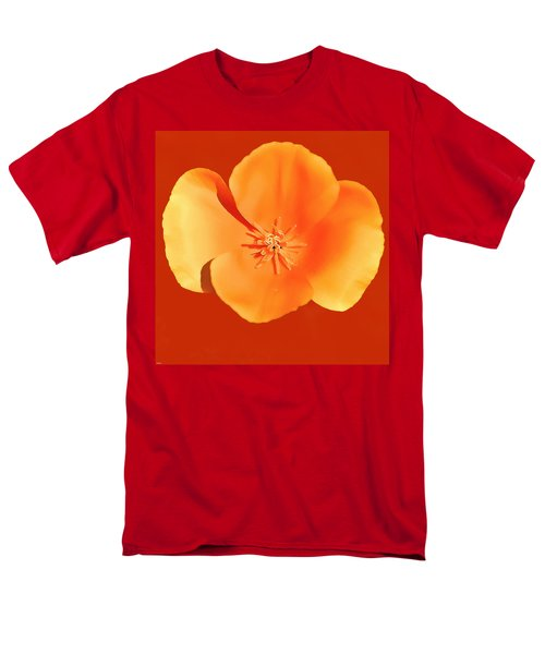 California Poppy Painting Men's T-Shirt  (Regular Fit) by Bob and Nadine Johnston