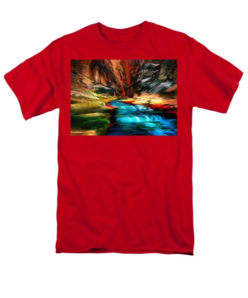 Canyon Waterfall Impressions Men's T-Shirt  (Regular Fit) by Bob and Nadine Johnston