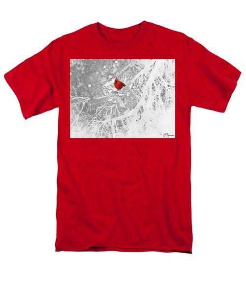 Cardinal In Winter Men's T-Shirt  (Regular Fit)