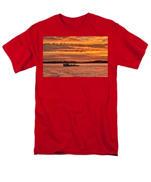 Chesapeake Watermen Men's T-Shirt  (Regular Fit) by Michael Pickett