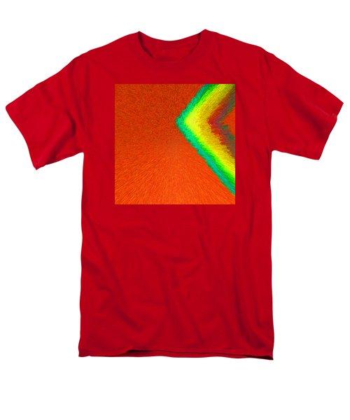 Chevron Rainbow Orange C2014 Men's T-Shirt  (Regular Fit) by Paul Ashby