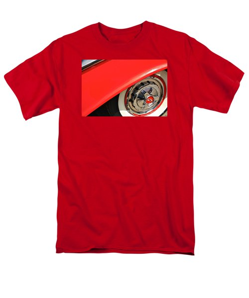 Men's T-Shirt  (Regular Fit) featuring the photograph 1955 Chevy Rim by Linda Bianic