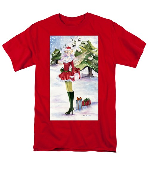 Men's T-Shirt  (Regular Fit) featuring the painting Christmas Fantasy  by Nadine Dennis