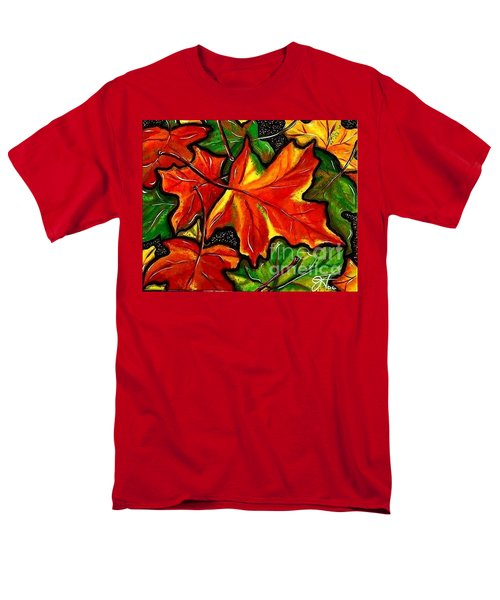 Men's T-Shirt  (Regular Fit) featuring the painting Colorful Carpet by Jackie Carpenter