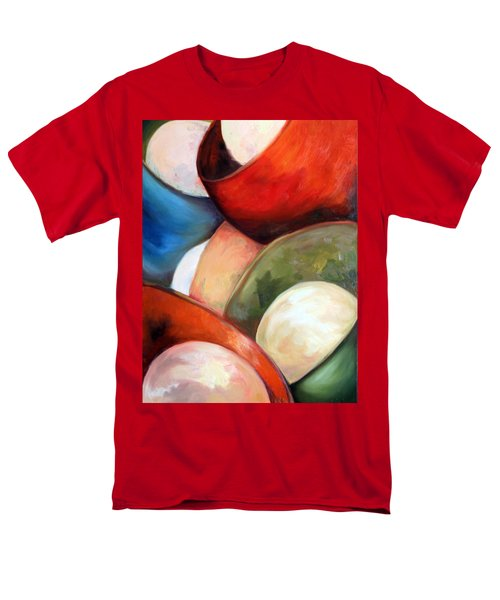 Men's T-Shirt  (Regular Fit) featuring the painting Colorful Lights by Meaghan Troup