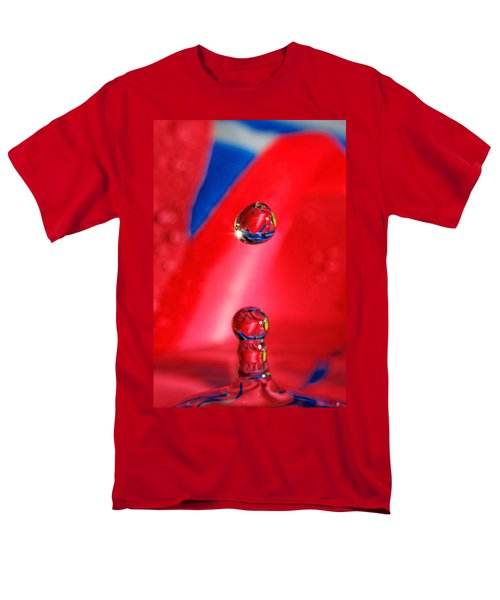 Men's T-Shirt  (Regular Fit) featuring the photograph Colorful Water Drop by Peter Lakomy
