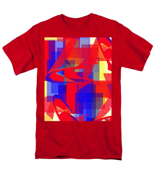 Men's T-Shirt  (Regular Fit) featuring the digital art Copter Sunrise by Stephanie Grant