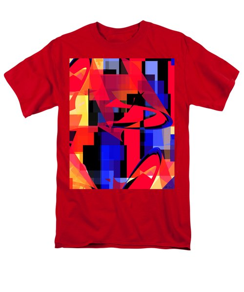 Men's T-Shirt  (Regular Fit) featuring the digital art Copter Sunset by Stephanie Grant
