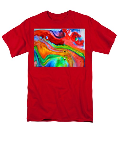 Men's T-Shirt  (Regular Fit) featuring the painting Cosmic Lights by Joyce Dickens