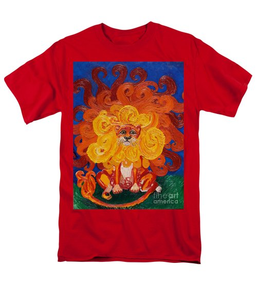 Men's T-Shirt  (Regular Fit) featuring the painting Cosmic Lion by Cassandra Buckley