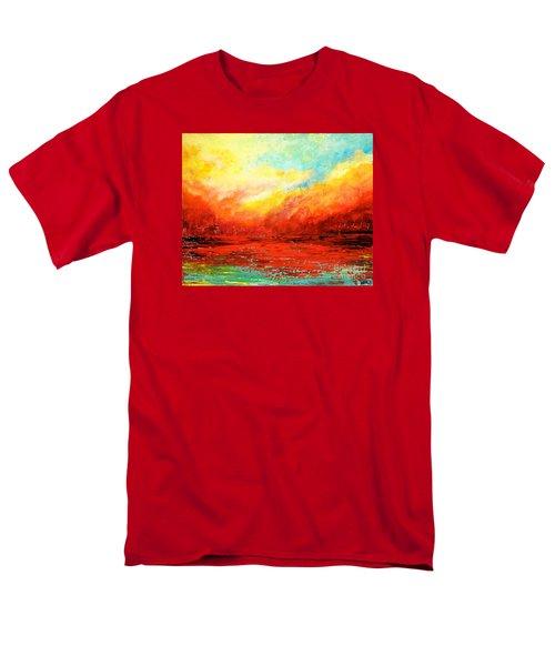 Crimson No.2 Men's T-Shirt  (Regular Fit) by Teresa Wegrzyn
