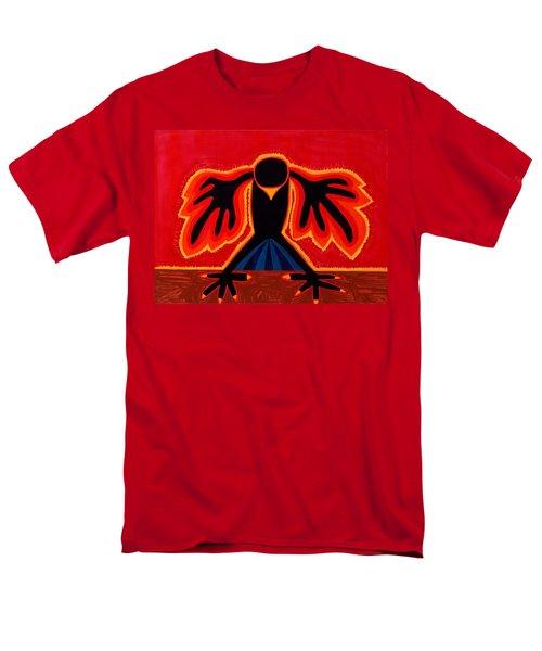 Crow Rising Original Painting Men's T-Shirt  (Regular Fit) by Sol Luckman