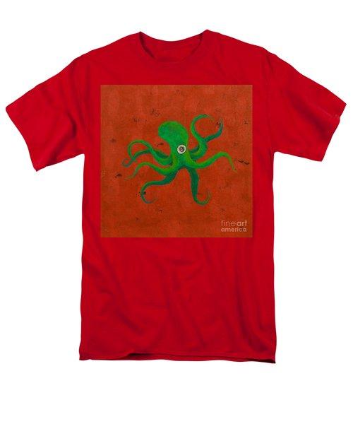 Cycloptopus Red Men's T-Shirt  (Regular Fit) by Stefanie Forck