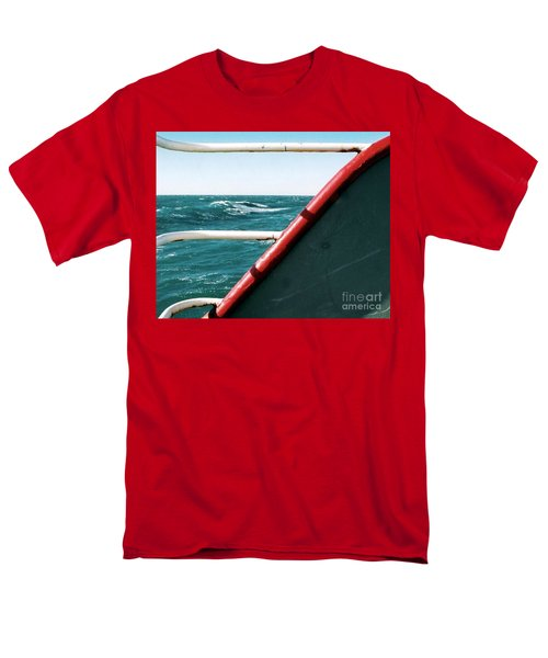 Men's T-Shirt  (Regular Fit) featuring the photograph Deep Blue Sea Of The Gulf Of Mexico Off The Coast Of Louisiana Louisiana by Michael Hoard