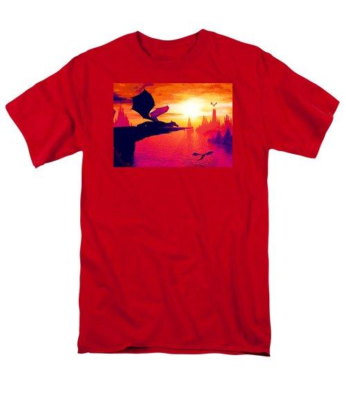 Awesome Dragon Men's T-Shirt  (Regular Fit) by David Mckinney