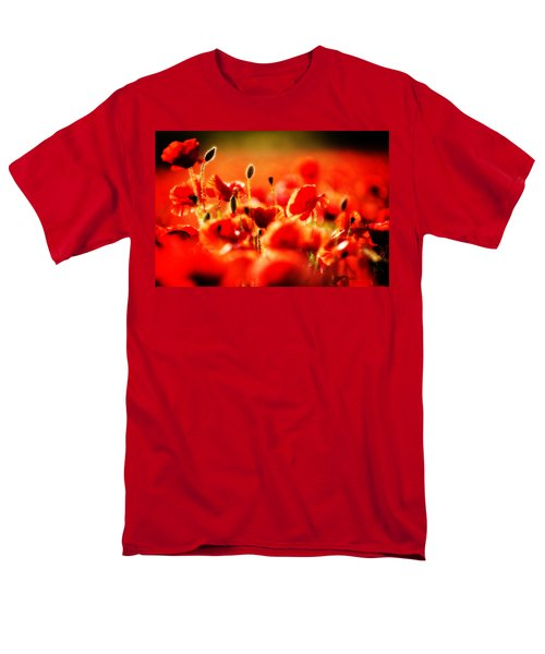 Men's T-Shirt  (Regular Fit) featuring the photograph Dreaming Of Poppies by Meirion Matthias