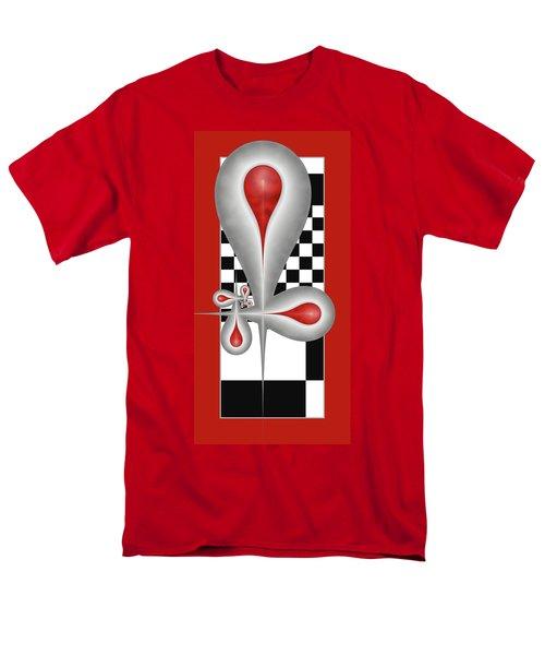 Men's T-Shirt  (Regular Fit) featuring the digital art Drops On A Chess Board by Gabiw Art