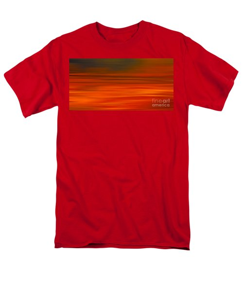 Abstract Earth Motion Sun Burnt Men's T-Shirt  (Regular Fit) by Linsey Williams