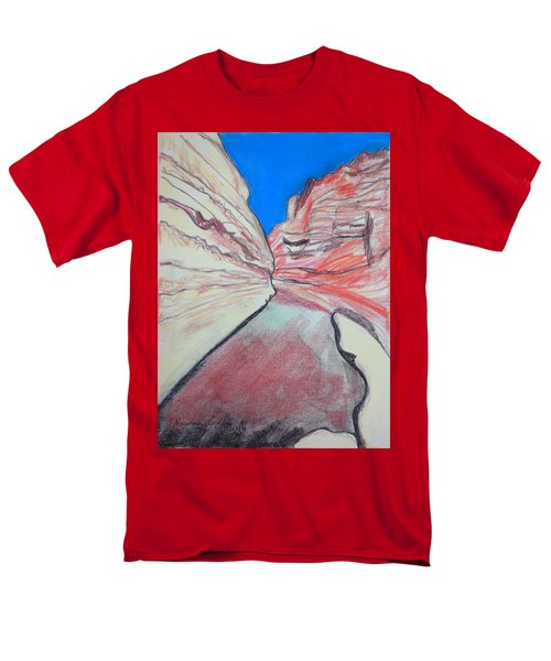 Men's T-Shirt  (Regular Fit) featuring the drawing Ein Avdat  by Esther Newman-Cohen