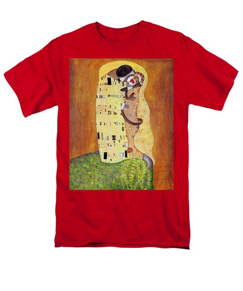 Men's T-Shirt  (Regular Fit) featuring the painting The Smooch by Randol Burns