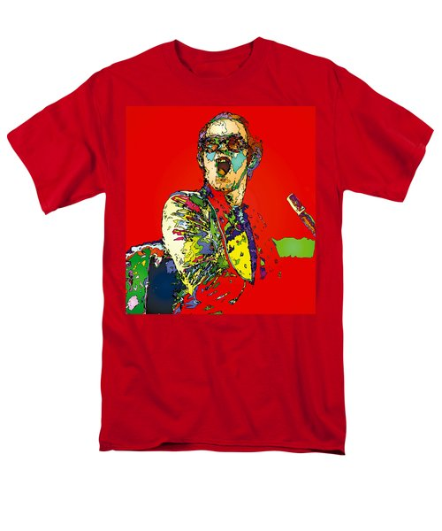 Elton In Red Men's T-Shirt  (Regular Fit) by John Farr