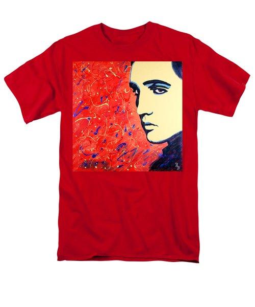 Elvis Presley - Red Blue Drip Men's T-Shirt  (Regular Fit) by Bob Baker