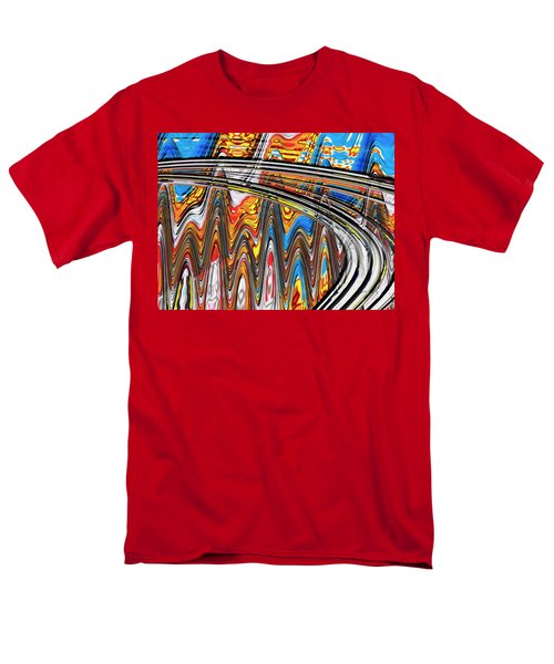 Men's T-Shirt  (Regular Fit) featuring the digital art Highway To Nowhere Abstract by Gabriella Weninger - David