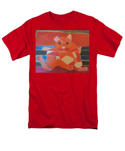 Fat Cat On A Hot Chaise Lounge Men's T-Shirt  (Regular Fit) by Richard W Linford