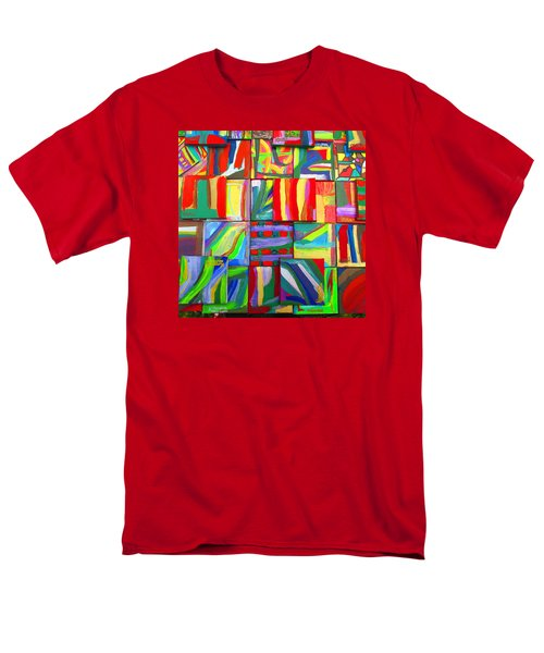 Men's T-Shirt  (Regular Fit) featuring the painting Feast Of Minis 03 by Mudiama Kammoh