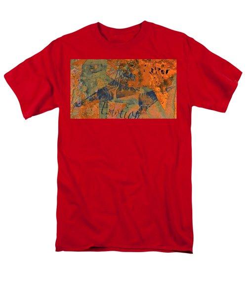 Feel Emotion Orange And Green Men's T-Shirt  (Regular Fit) by Deprise Brescia