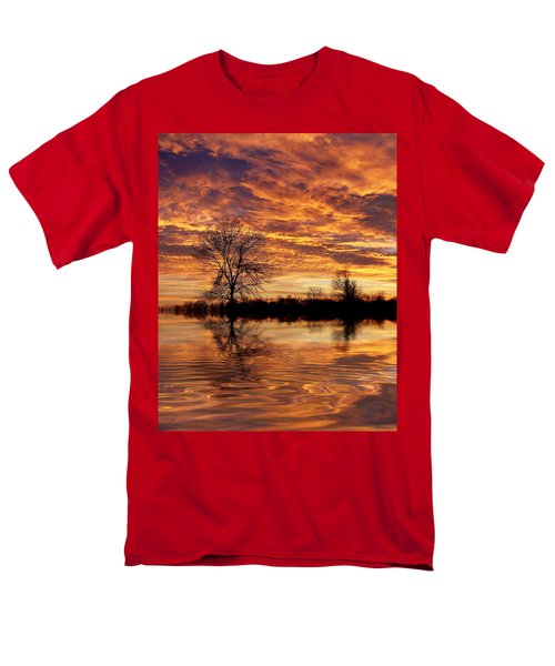 Fire Painters In The Sky Men's T-Shirt  (Regular Fit)