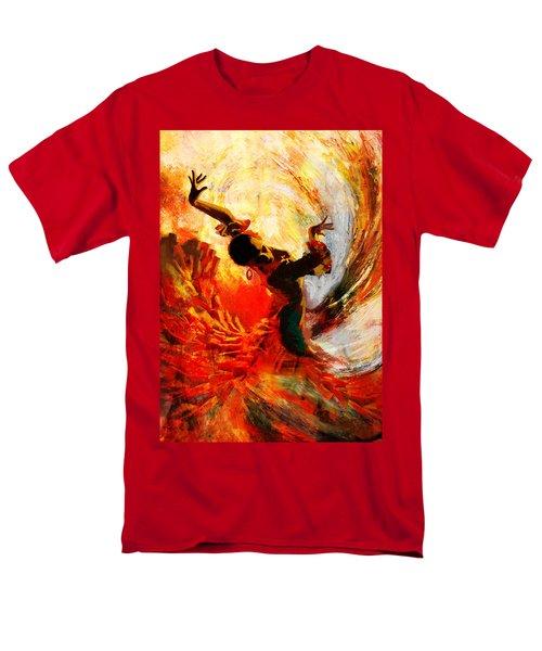 Flamenco Dancer 021 Men's T-Shirt  (Regular Fit) by Mahnoor Shah