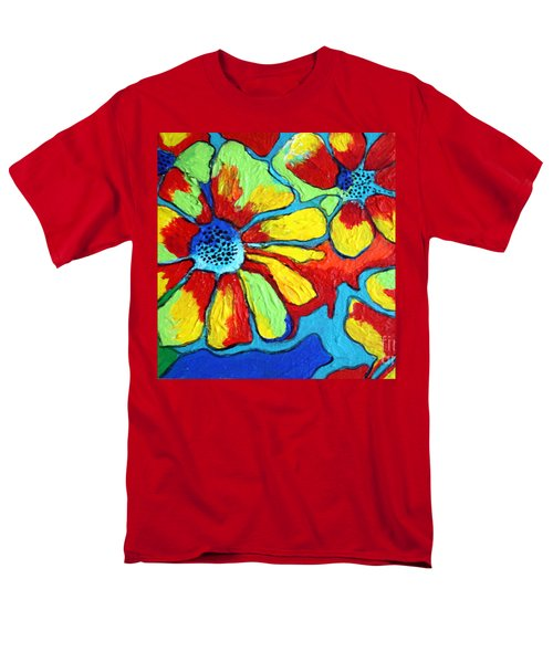 Floating Flowers Men's T-Shirt  (Regular Fit) by Alison Caltrider